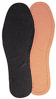 Летние стельки «Кожкартон+Флизелин» цвет чёрный, р-р 39