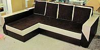 Угловой диван еврокнижка с полочкой, фото 1