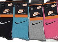 Носки женские махровые х/б Nike, 37-39 размер, высокие, ассорти, 11251
