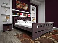 Кровать Атлант 9  деревянная двуспальная 160 (Тис)