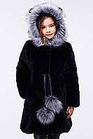 Зимняя детская меховая шуба для девочки 38-40