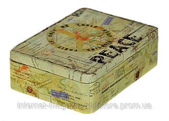 Шкатулка для швейных принадлежностей металлическая 50*155*210