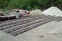 "Парапет бетонный на забор 270х390х55 мм ""Шагрень"""