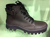 Мужские зимние кожаные ботинки ТМ Мида 14012