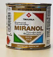 Декоративная краска Миранол, Tikkurila MIRANOL  Золото 0,1л