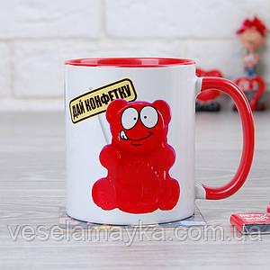 Чашка Дай конфетку (Желейный медведь Валера)