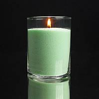 Салатовые насыпные свечи, пальмовый воск, фитиль в подарок.