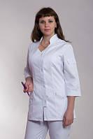 Белый коттонновый медицинский костюм