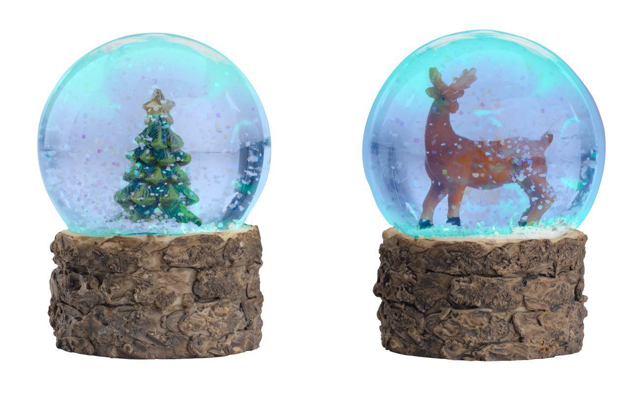 Світильник снігова Куля скляний LED