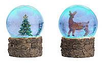 Светильник снежный Шар стеклянный LED