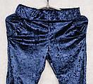 Ультрамодный велюровый женский спортивный костюм С-ка темно синий, фото 3