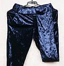 Ультрамодный велюровый женский спортивный костюм С-ка темно синий, фото 4