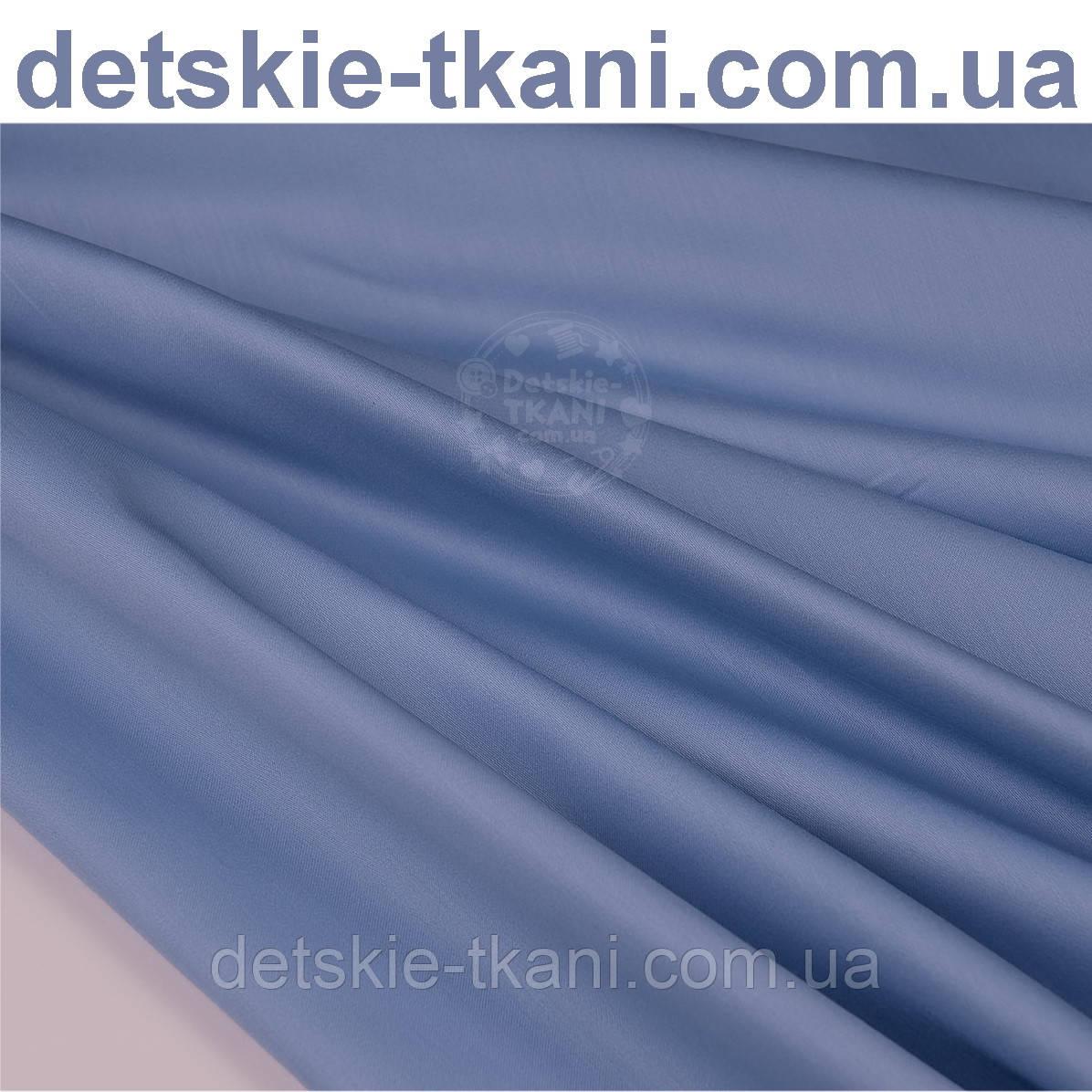 Сатин премиум, цвет васильковый, ширина 240 см (№1090)