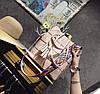Стильный набор, сумка и клатч с красочным поясом, фото 6