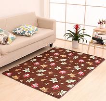 Флисовый коврик «Кленовые листья» 50×80 см коричневый