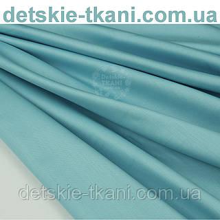 Отрез сатин премиум, цвет бледно-лазурный, ширина 240 см (№1091) размер 90*240