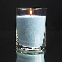 Голубые насыпные свечи 1 кг + 1 м фитиля, фото 1