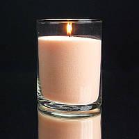 Персиковые насыпные свечи, пальмовый воск, фитиль в подарок.