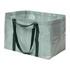 Сумка, большая, зеленый, белый, 71л IKEA YPPERLIG 403.463.49