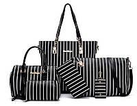 Большой набор женских сумок в полоску, 6в1  Отличный подарок