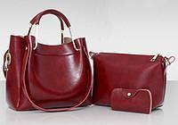Модный набор женских сумок с мраморным оттенком 3в1