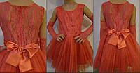 Детское нарядное платье с бантом, фото 1