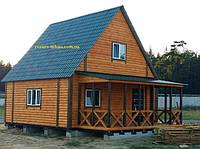 Дачный домик с мансардой.