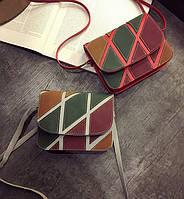 Fashion сумка сундучок с замшевым узором