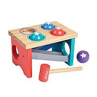 Игрушка деревянная Hamleys Детская площадка Сортер с молотком и шарами 853242 ТМ: Hamleys