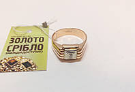 Золотой перстень с бриллиантом. Размер 21,5. Вес 9,41 грамм.