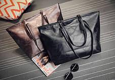 Стильна жіноча сумка шоппер, фото 3