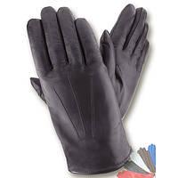 Мужские перчатки из натуральной кожи на подкладке из натурального меха модель 068.