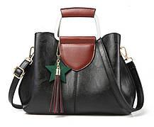 Элегантная женская сумка с мраморным оттенком, фото 2