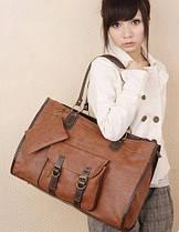 Большая женская сумка с оригинальным карманом и кошельком , фото 3