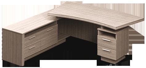 Стол руководителя Идеал I1.21.20 Орех (MConcept-ТМ)