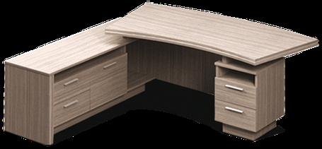 Стол руководителя Идеал I1.21.20 Орех (MConcept-ТМ), фото 2