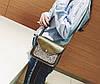 Женская сумка почтальон с блестками, фото 5