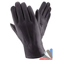 Мужские перчатки из натуральной кожи на подкладке из натурального меха модель 080.