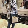 Стильный двухцветный набор сумка и клатч JingPin, фото 5