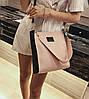 Стильный двухцветный набор сумка и клатч JingPin, фото 3