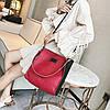 Стильный двухцветный набор сумка и клатч JingPin, фото 6