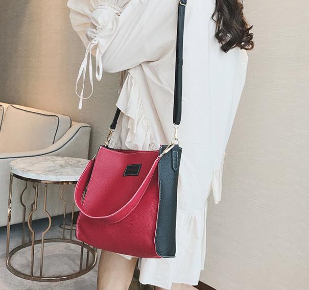 Стильный двухцветный набор сумка и клатч JingPin