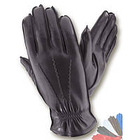 Мужские перчатки из натуральной кожи на подкладке из натурального меха модель 169.