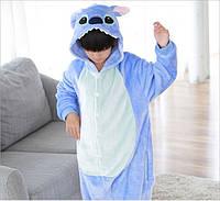 Пижама кигуруми для детей Стич синий