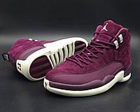 """Женские кроссовки Nike Air Jordan 12 Retro (BG) """"Bordeaux"""""""