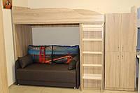 Детская кровать-горка с рабочим пространством