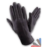 Женские перчатки из натуральной кожи на подкладке из натрального меха модель 164.