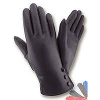 Женские перчатки из натуральной кожи на подкладке из натрального меха модель 423.
