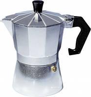 Кофеварка гейзерная алюминиевая Con Brio CB-6103 150мл 3порции