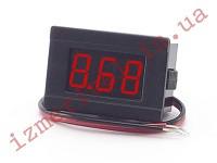 Цифровой вольтметр DC 4.5-30 В (красный)